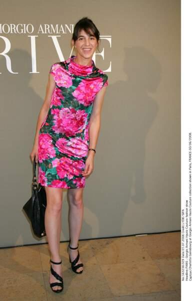 En imprimé à grosses fleurs au défilé de Giorgio Armani Haute Couture en 2008