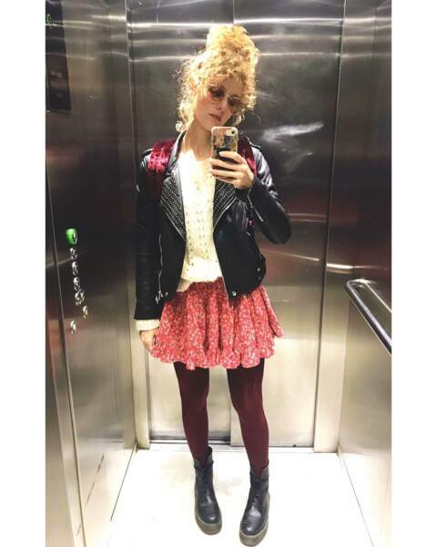 Et hop, un petit selfie dans l'ascenseur !
