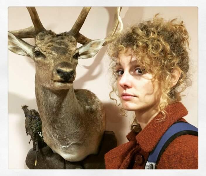 En revanche, les cerfs empaillés, très peu pour elle  !