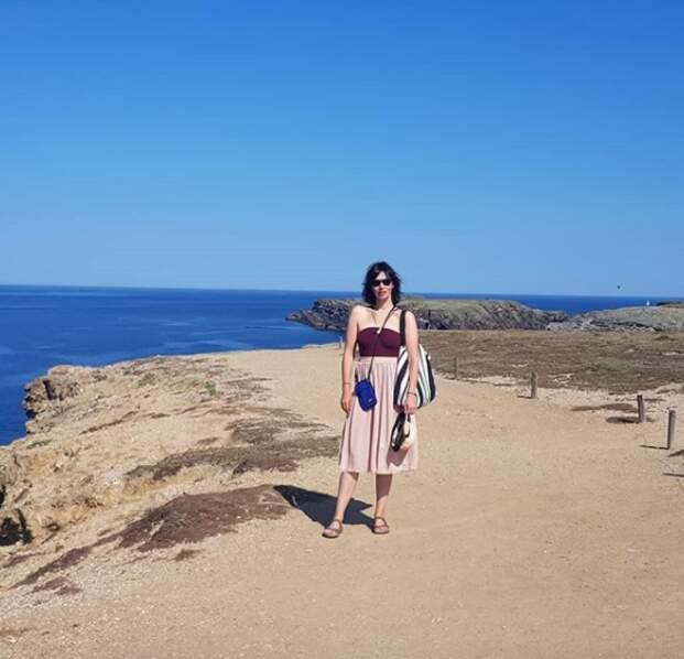 Géraldine Maillet profite de ses vacances pour partir à l'étranger...