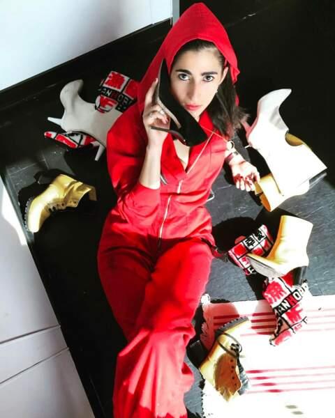 Une chose est sûre : elle a visiblement une passion pour les chaussures...