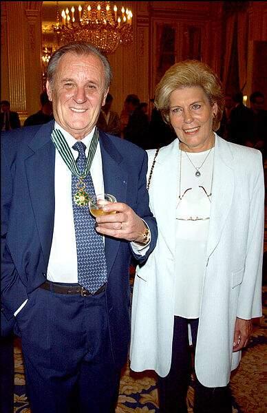 Albert Uderzo et son épouse Ada.