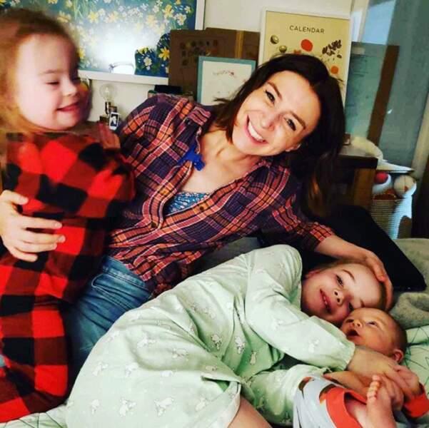 Tout comme l'actrice Caterina Scorsone et ses enfants Paloma, Arwen et Eliza.