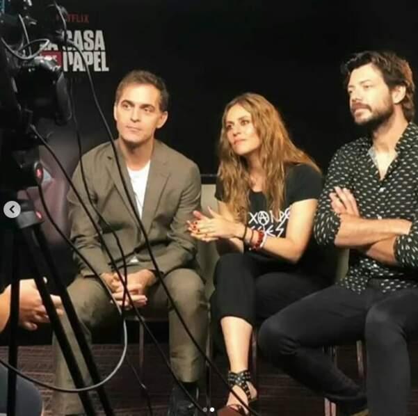 En interview, Pedro Alonso, Itziar Ituño et Álvaro Morte sont très concentrés...