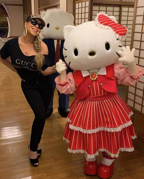 Et même Hello Kitty, rencontrée au Japon ! Petite veinarde.