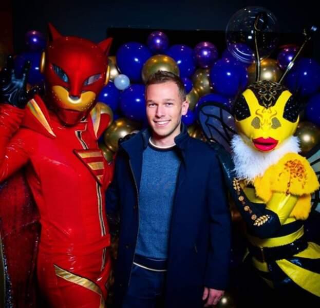 Il a aussi pu rencontrer les personnalités cachées de Mask Singer...