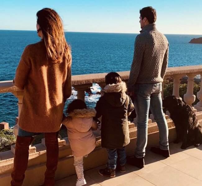 instant complice avec son mari Yoann Gourcuff et leurs deux enfants
