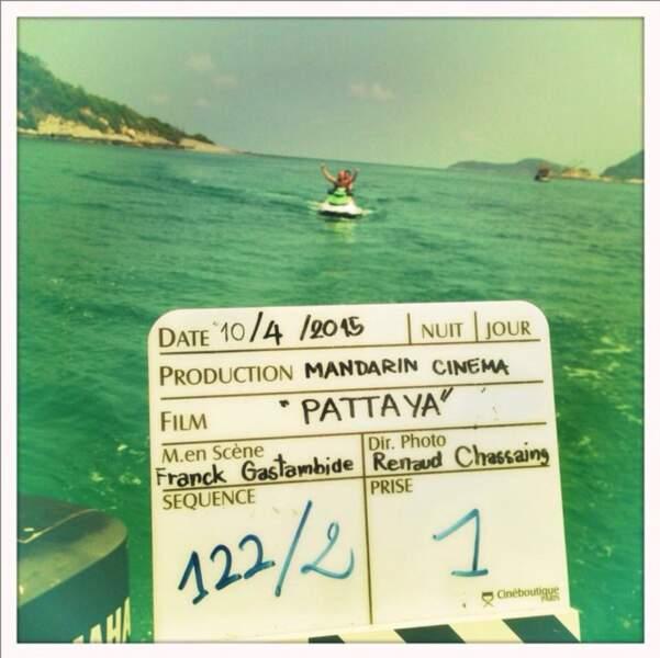 Sur le tournage de Pattaya, sa deuxième réalisation