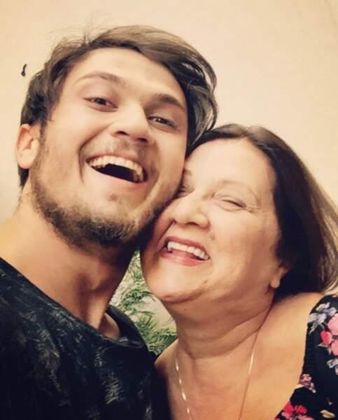 Avec sa maman