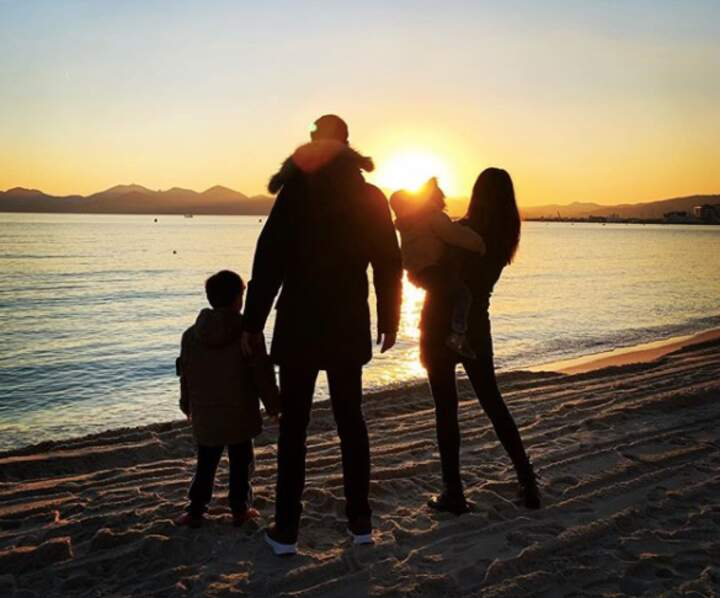 En famille à la mer
