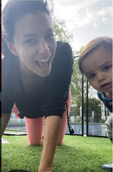 Eva Longoria avec son fils