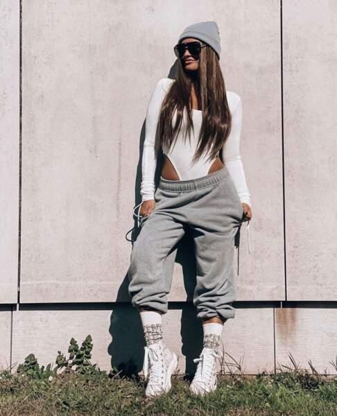 Pour Aurélie Dotremont, cette période est aussi le bon moment pour porter des tenues confortables toute la journée
