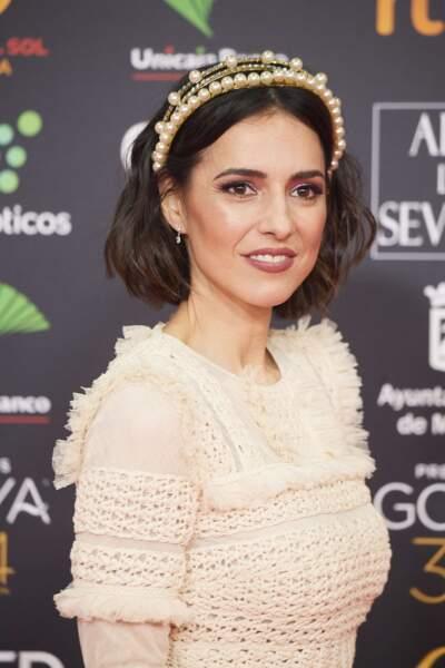 """Cristina Brondo poursuit sa carrière en Espagne dans plusieurs séries  jusqu'a interpréter la reine d'Espagne Sofia dans """"El rey"""" en 2013. Ici à la cérémonie des Goya en 2020"""
