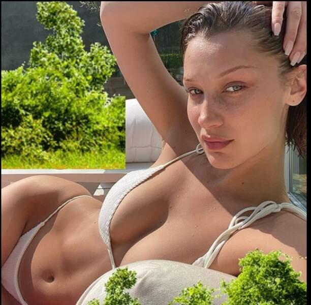 La mannequin Bella Hadid au naturel