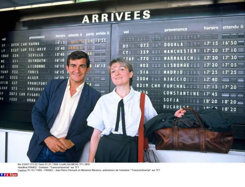 """Jean-Pierre Pernaut est aussi rédacteur en chef de plusieurs émissions dont """"Transcontinental"""" en 1986."""