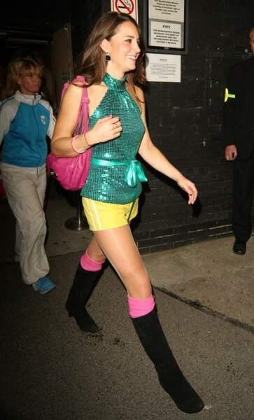 Soirée disco décomplexée en septembre 2008.