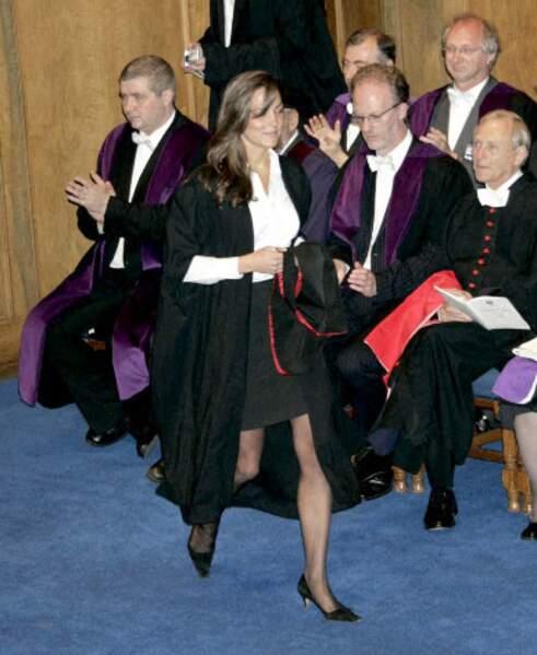 Cérémonie de fin d'études à l'Université St-Andrews en juin 2005. Kate y rencontra un certain William.