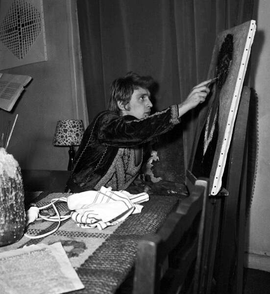 """Passionné de peinture, Christophe dit de lui qu'il est comme """"un peintre du son"""" (1969)."""