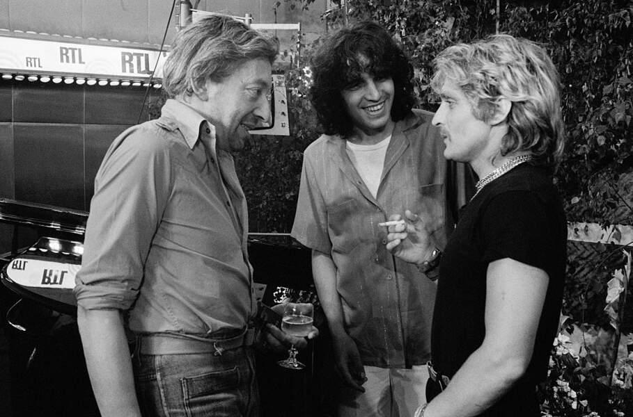Avec Serge Gainsbourg et Julien Clerc, en 1978.