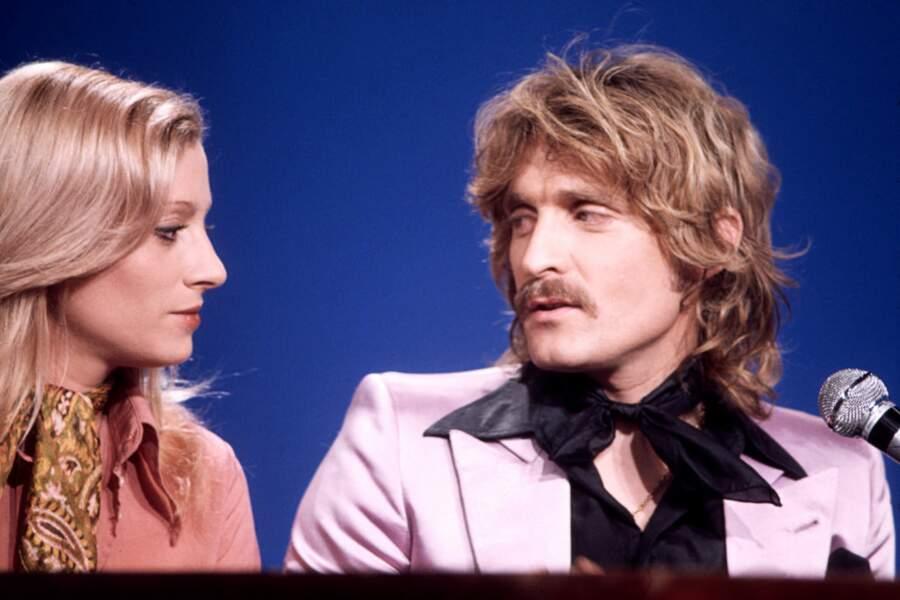 Avec une autre voix romantique de la chanson française, Véronique Sanson, en 1976.