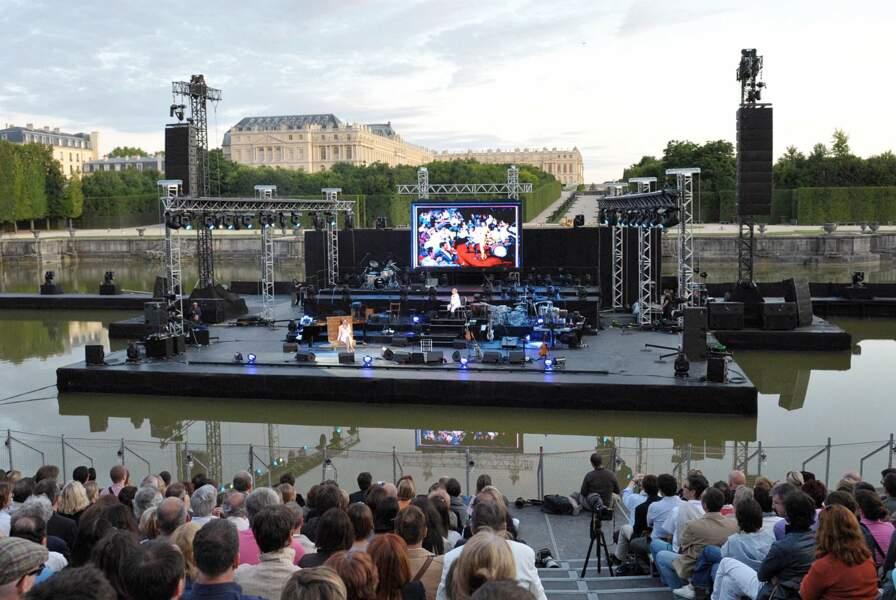 Concert royal sur l'un des bassins du château de Versailles, en 2009.