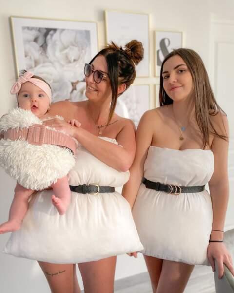 Anais Sanson a relevé le défi avec ses deux filles