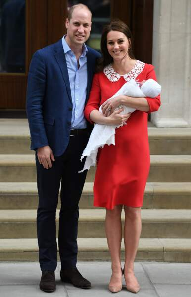 Congratulations ! Le prince Louis Arthur Charles est né le 23 avril 2018 au St Mary's Hospital de Paddington. Il s'agit du troisième enfant du duc et de la duchesse de Cambridge