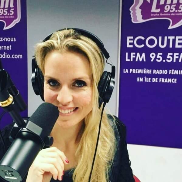 Sandra Ferreira n'est pas qu'une femme de télévision, elle passe aussi à la radio !