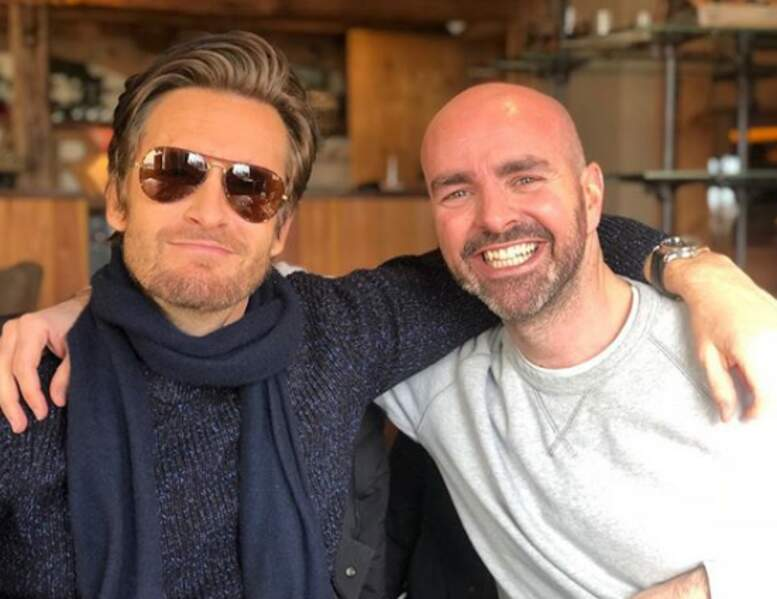 Avec son grand ami Julien Arruti