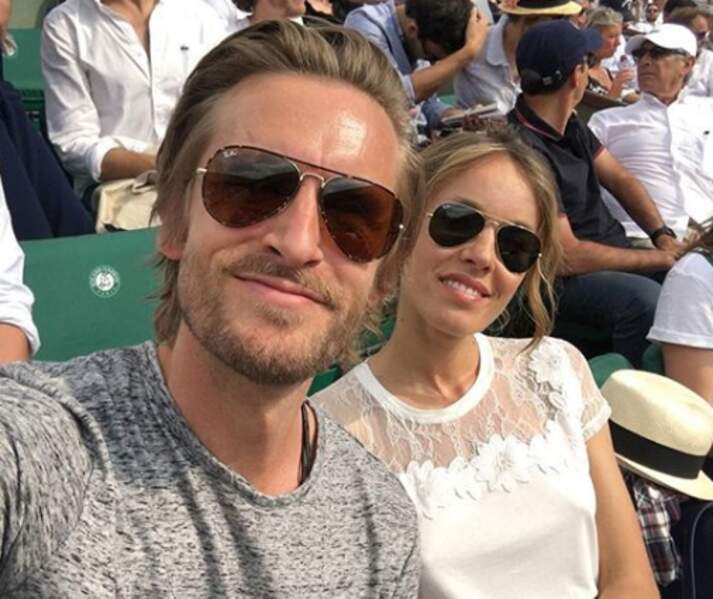 Avec Elodie Fontan à Roland-Garros