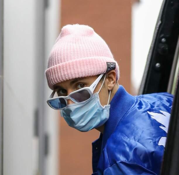 Avec ou sans masque, Justin Bieber n'en est plus à une excentricité près