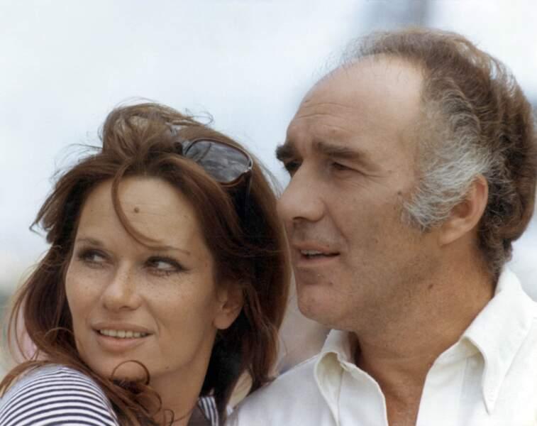 """""""La femme en bleu"""" (1973), Michel Piccoli donne la réplique à l'actrice Lea Massari"""