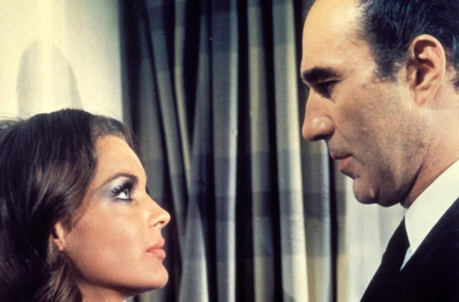 Michel Piccoli y retrouve à nouveau l'actrice Romy Schneider