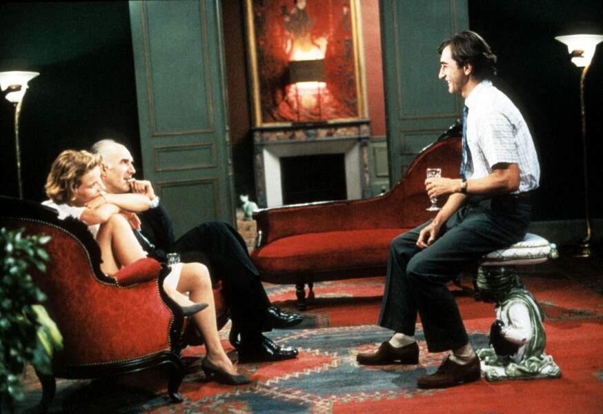 """""""Péril en la demeure"""" (1985) : Piccoli avec Nicole Garcia et Christophe Malavoy"""