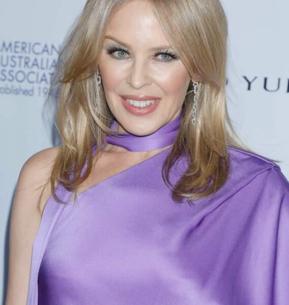 Kylie Minogue, à bientôt 52 ans, lors de la soirée des American Australian Association Arts Awards à new-York en janvier 2020