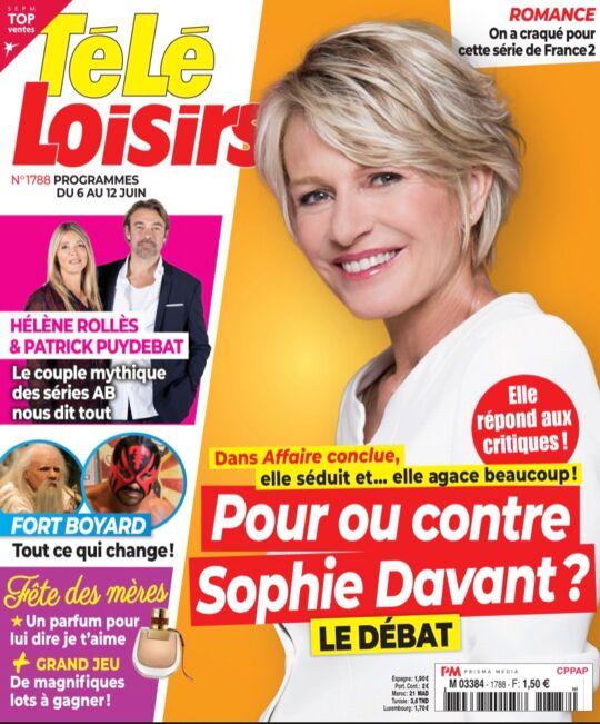 A la Une de Télé Loisirs : Sophie Davant, elle divise dans Affaire ...