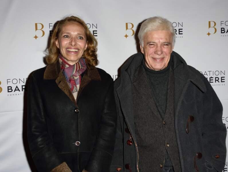 """Première de """"Monsieur & Madame Adelman"""" en compagnie de son épouse Joelle (2017)"""