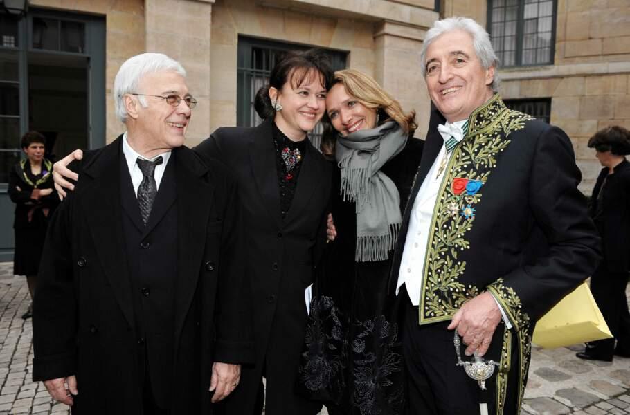 Fier de son ami Jean-Loup Dabadie, nouveau membre de l'Académie Française, Paris 2009