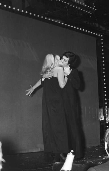 """En 1973 avec Sophie Daumier dans le sketche """"La Drague"""""""