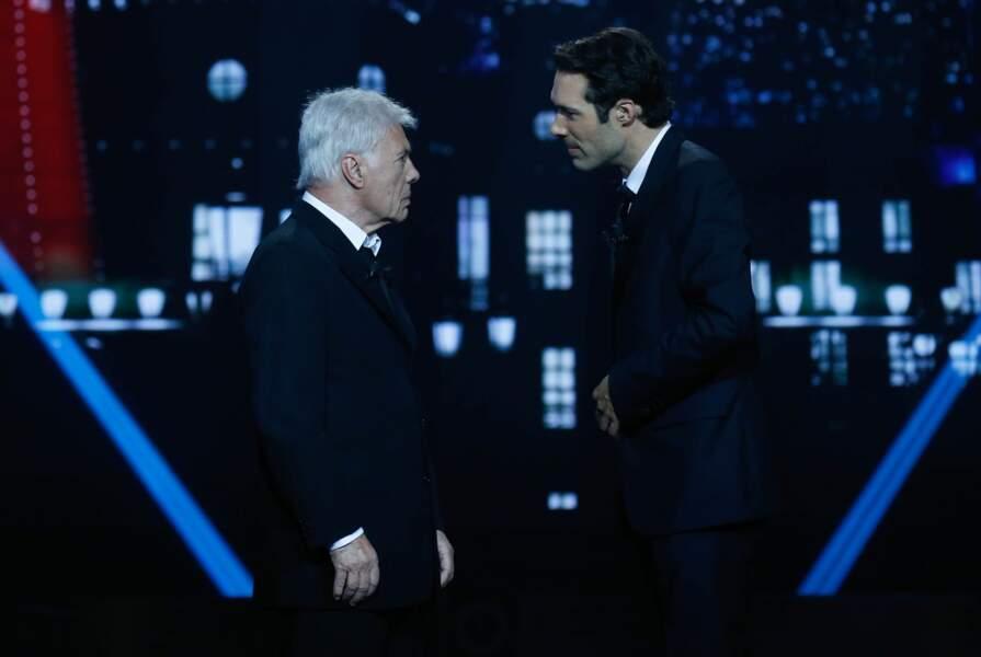 Père et fils lors de la 26 ème Cérémonie des Molières aux Folies Bergères en 2014.