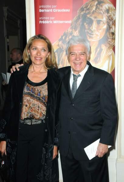 Guy Bedos et sa dernière épouse Joelle Bercot (2009)