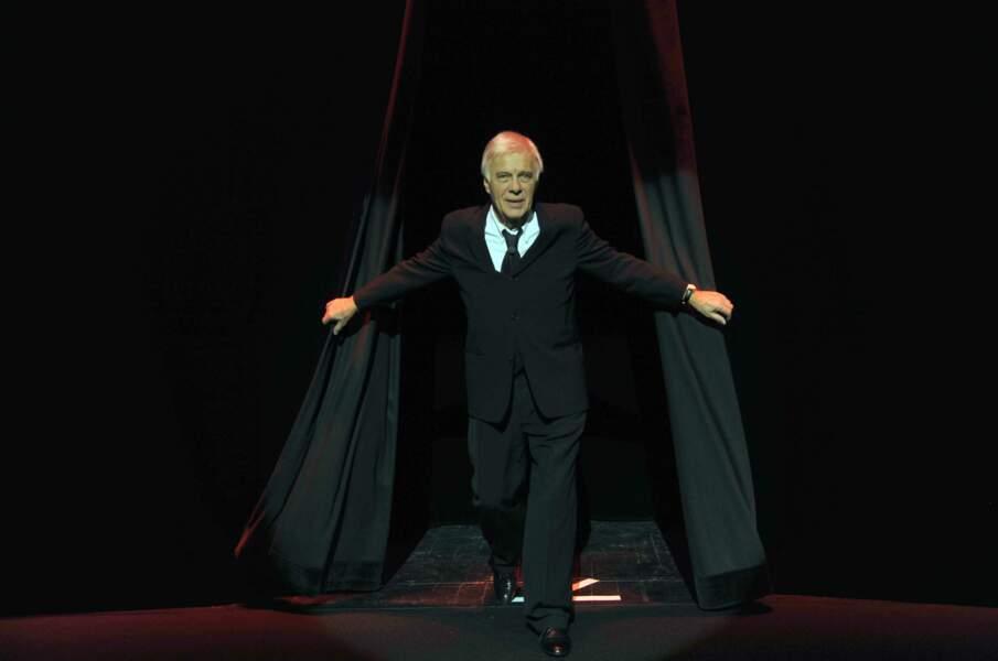 """Sur scène dans """"Rideau"""" au Théâtre du Rond-Point (2011)"""