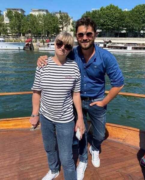 Pendant ce temps-là, Christine Bravo et Christophe Beaugrand voguaient sur la Seine.