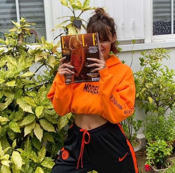 La mannequin Lena Simonne était très fière de faire la couverture du dernier ELLE.