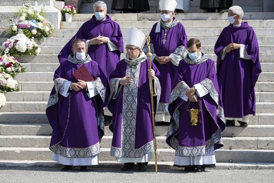 Monseigneur David, nouvel archevêque de Monaco a accueilli la famille princière