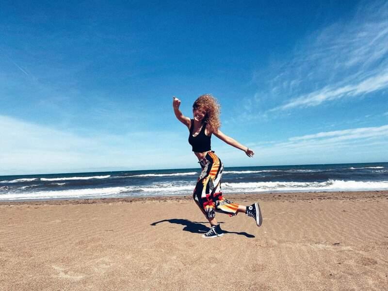 Et également à la plage... Esther est une fille cool !