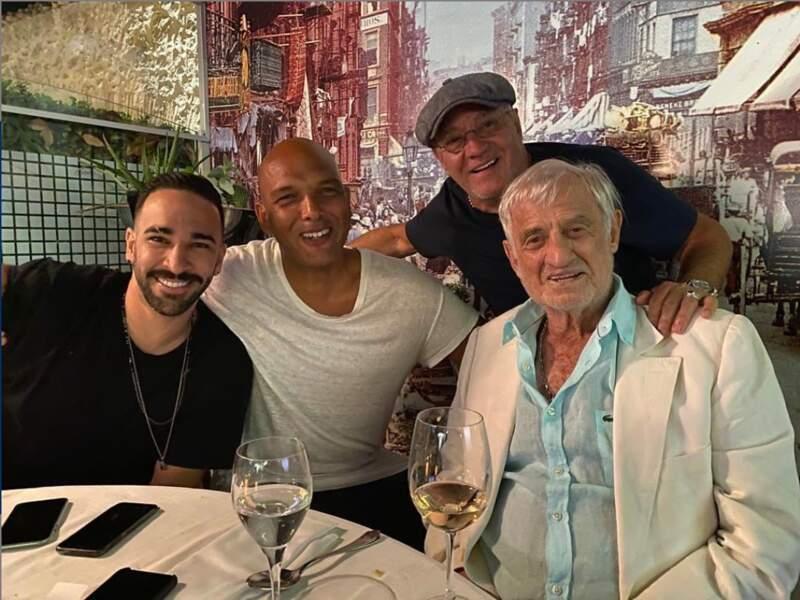 Adil Rami a fêté l'événement entre pères… avec Jean-Paul Belmondo !