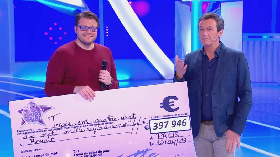 Benoît le Lensois (82 participations en 2019, 397 946 € de cadeaux et de gains)