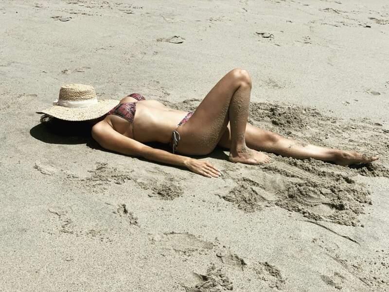 Rien de mieux qu'un bain de soleil à la plage...