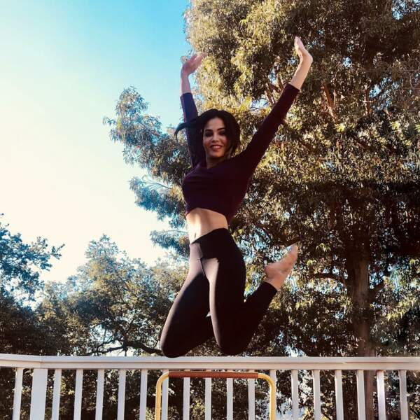 Jenna Dewan est une femme heureuse qui adore prendre de la hauteur !